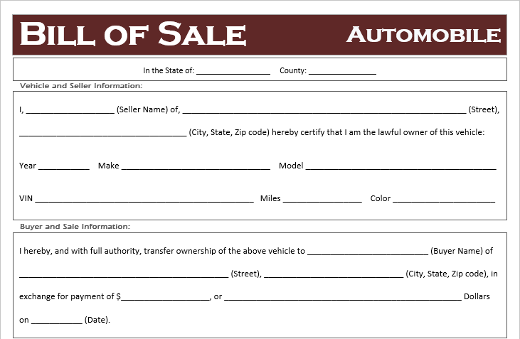 Template For Bill Of Sale For Vehicle from offroadfreedom.com