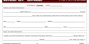 Tennessee Bill Of Sale >> Bill Of Sale Archives Off Road Freedom